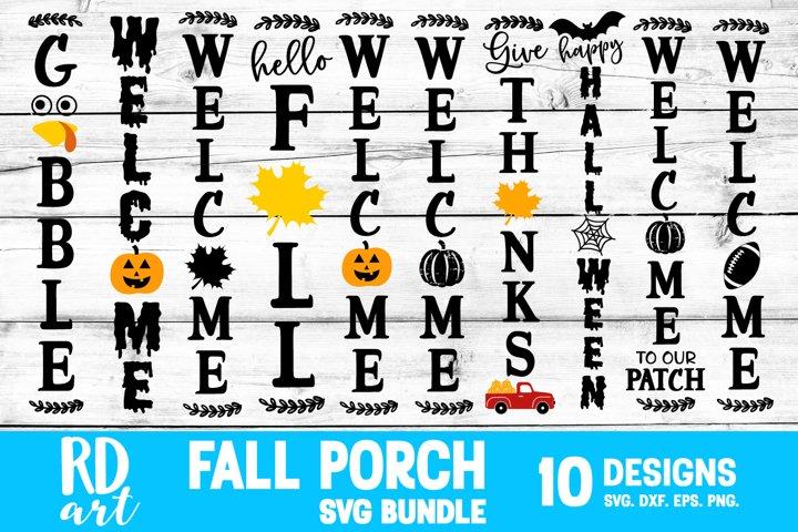 Fall Porch Sign Bundle SVG, DXF, PNG, EPS