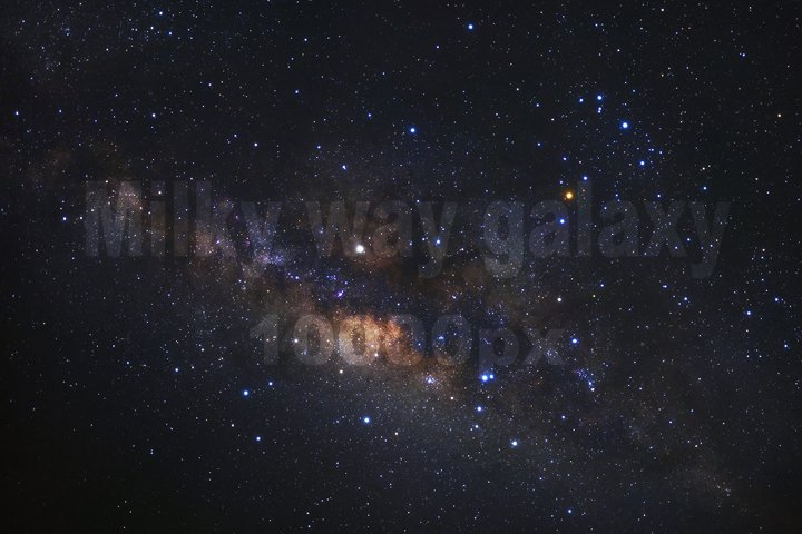 Milky way galaxy ,High Resolution 10000px