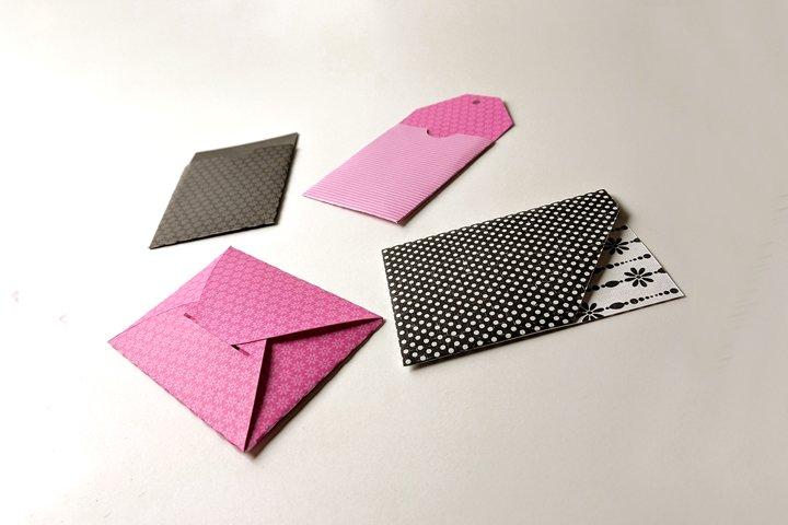 Paper Gift Card Holder Set SVG & PDF Design