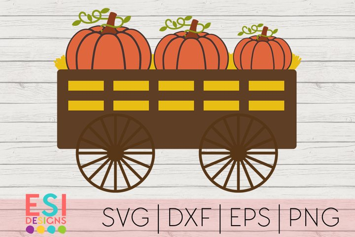 Pumpkin Wagon SVG | Fall SVG | Autumn SVG|SVG DXF EPS PNG example