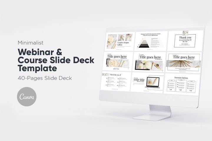 Minimalist Webinar Slide Deck for Canva
