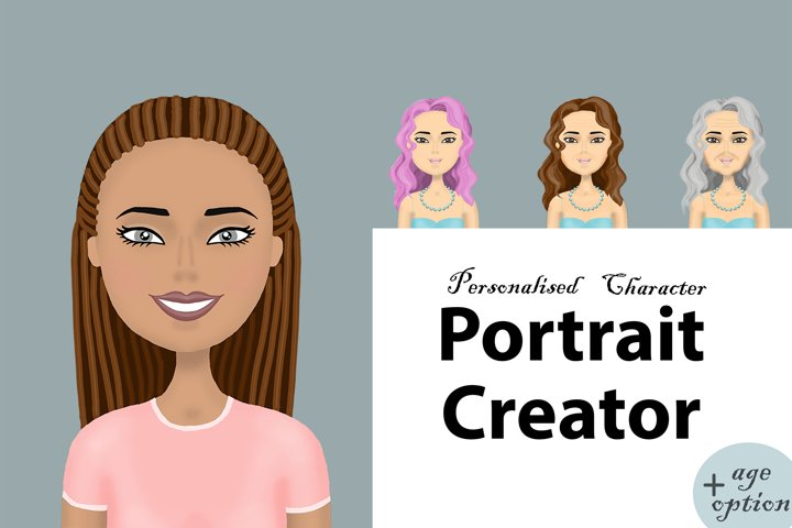 Girls and woman portrait creator with age option.