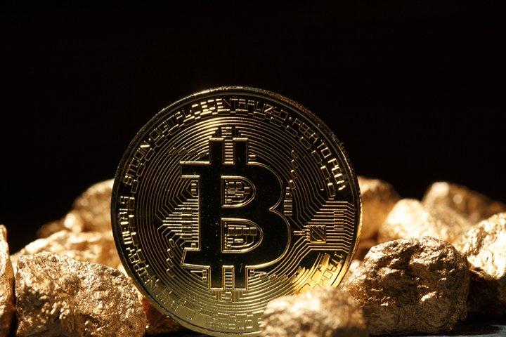 Golden Bitcoin Coin JPG set example 7