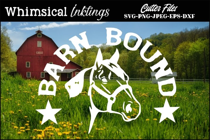 Barn Bound-Horse SVG