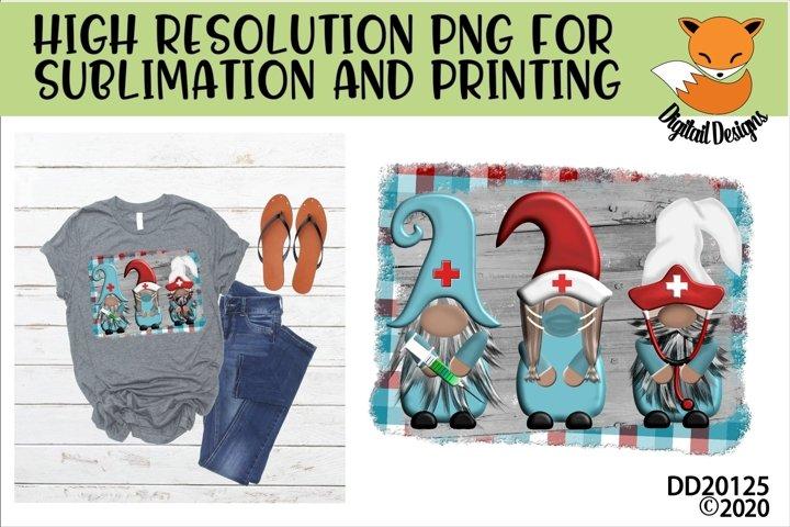 Healthcare Medical Nurse Nordic Gnome Sublimation Design