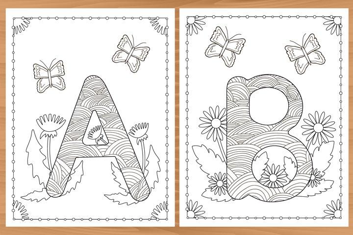Alphabet. A-Z. 26 Coloring pages.