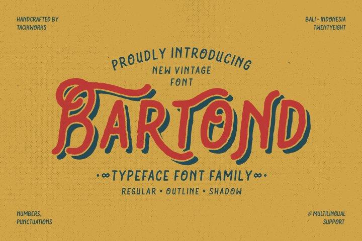 Bartond Typeface