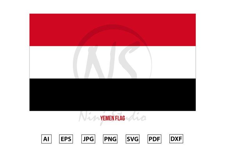 Yemen National Flag Vector