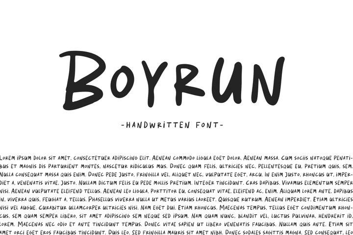 Boyrun - Handwritten Font