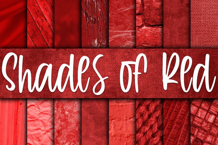 Shades of Red Digital Paper Textures