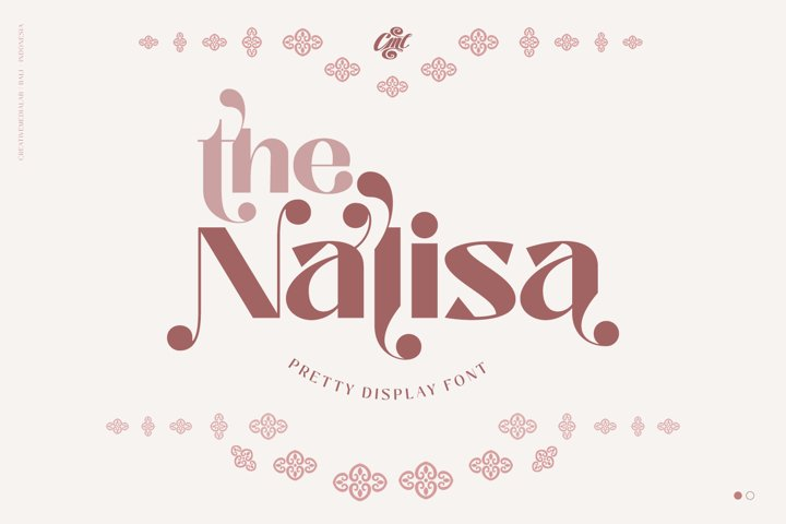 Nalisa Font - Modern Beauty Display