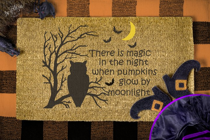 Halloween there is magic in the night pumpkins moonlight SVG