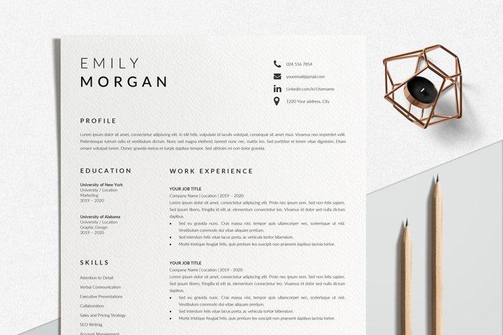 Professional Resume Design | CV Template Word