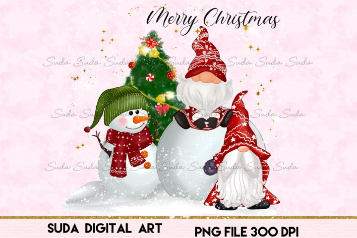 Christmas gnomes cute snow Sublimation