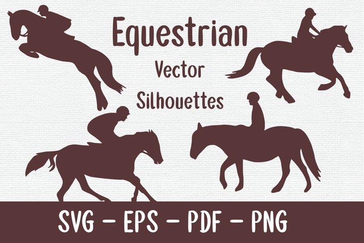 Equestrian Vector Silhouettes