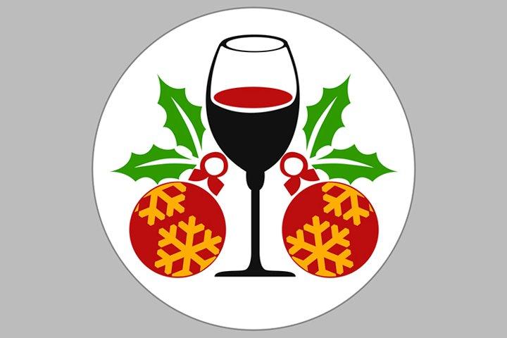 wine cristmas ornt