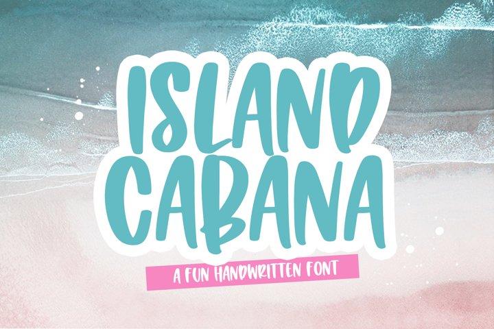 Island Cabana - A Fun Handwritten Font