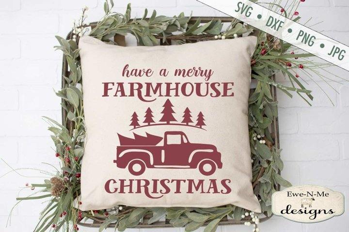 Merry Farmhouse Christmas - Old Truck SVG DXF