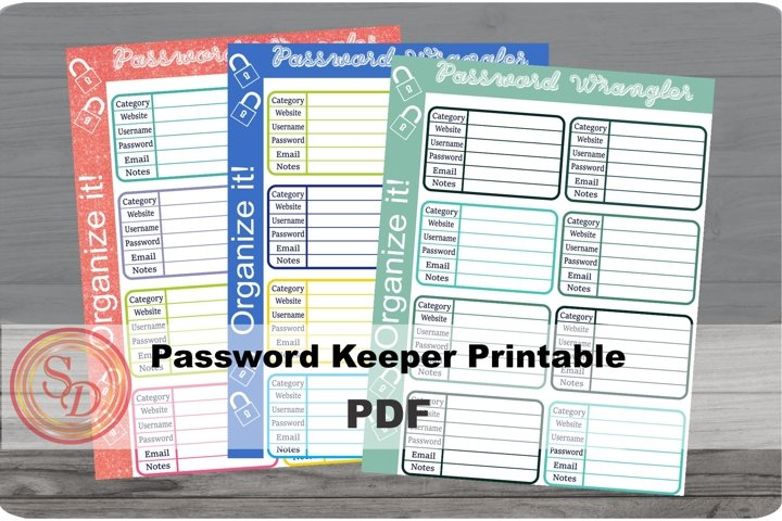 Password Wangler Printable- bundle