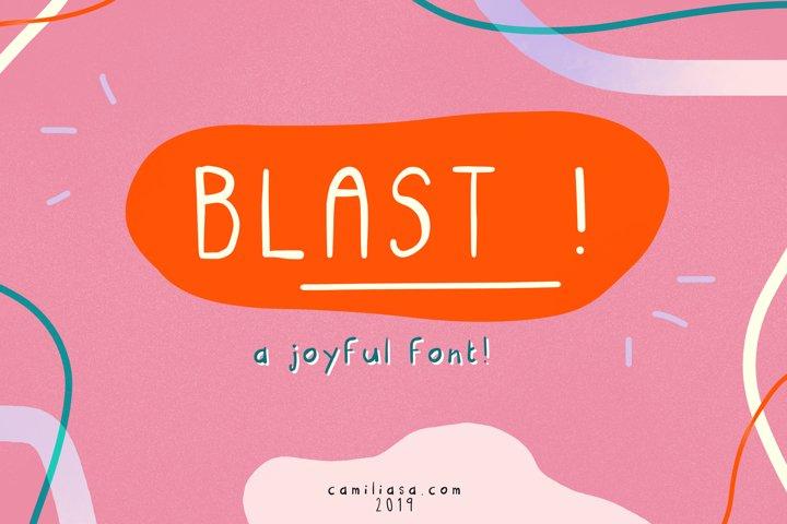Blast - A joyful handwritten script font ! example
