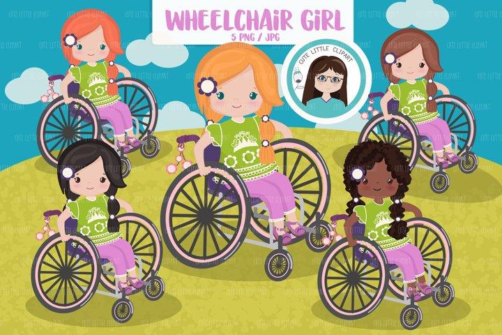 Wheelchair girl clipart