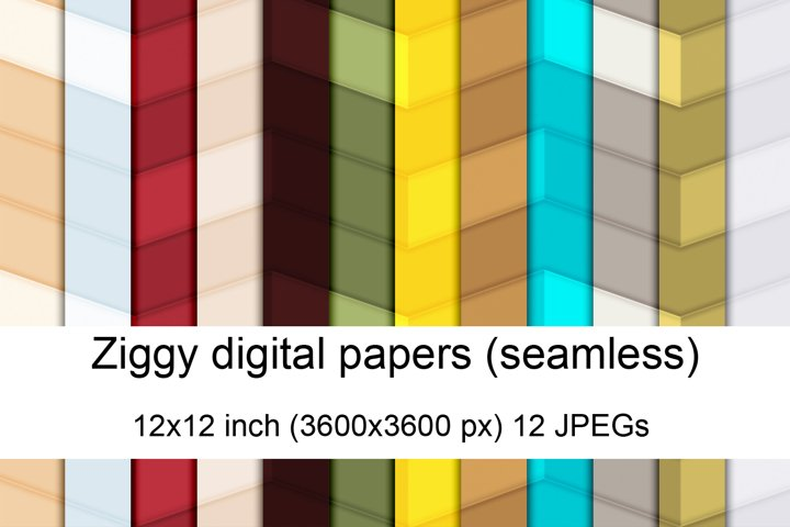 Ziggy seamless digital papers