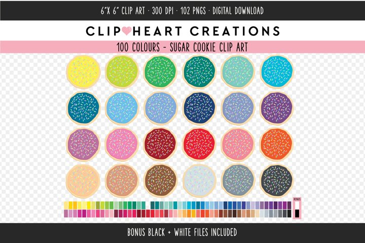 Sugar Cookie Sprinkles Clipart - 100 Colours