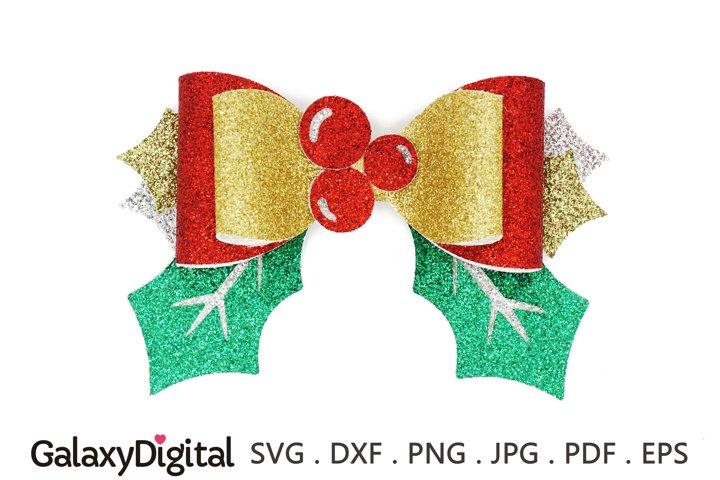 Christmas Hair Bow SVG, Hair Bow Template SVG