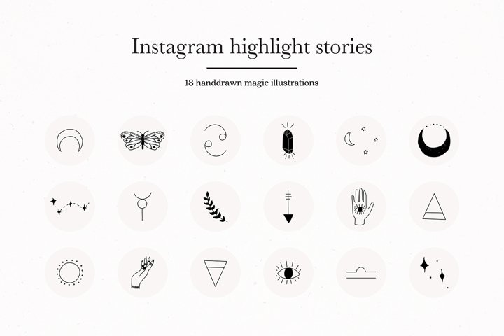 Instagram Magic Highlights Icons Covers