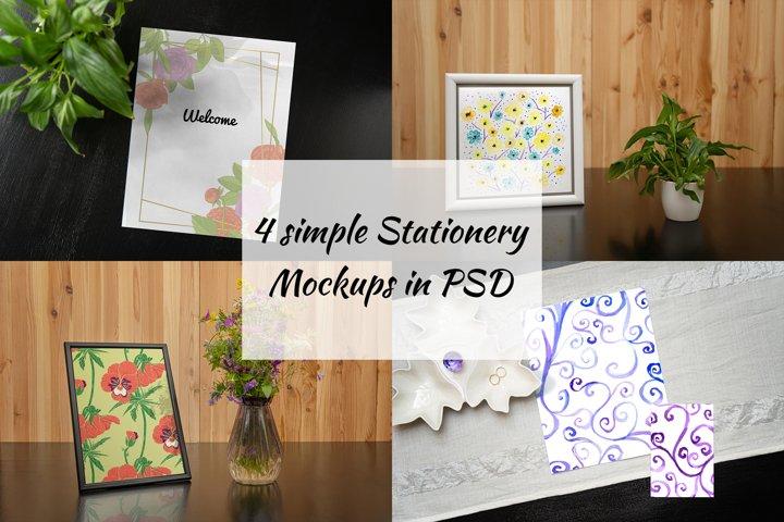 Simple Stationery Mockups