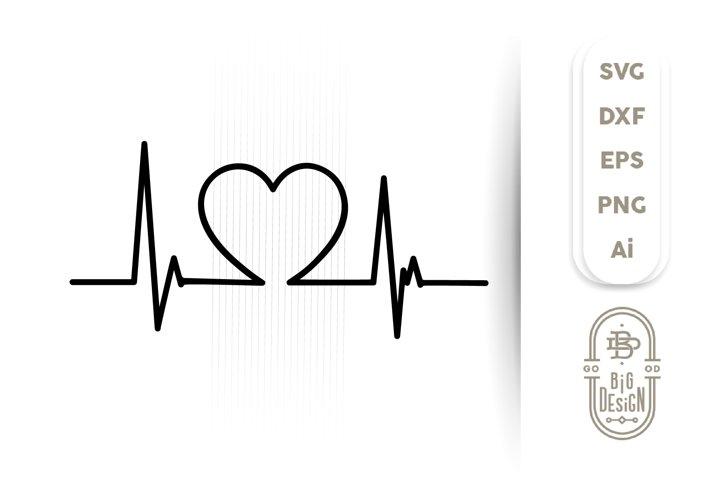 Heartbeat Pulse SVG / Heart Beat SVG , Nurse SVG File