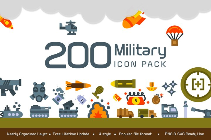 200 Military icon pack