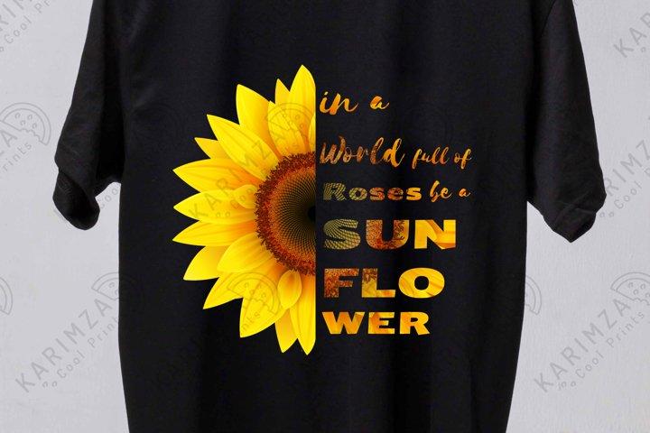 Sunflower PNG sublimation, half wildflower, Custom Quote Pri
