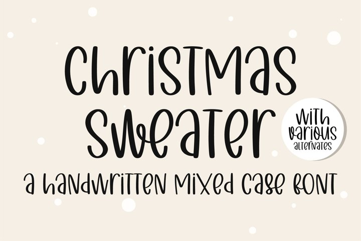 Christmas Sweater - A handwritten mixed case font