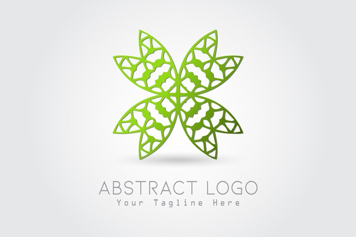 Logo Abstract Butterfly Green Color