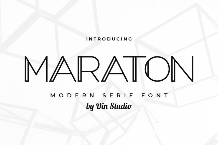 Maraton-Modern Serif Font