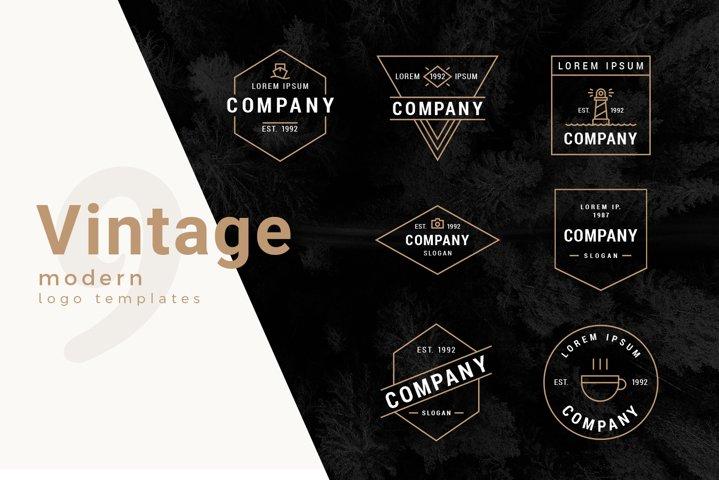Modern Vintage Outline Logo Templates