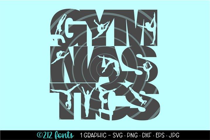 Gymnastics Silhouette Clip Art Cut File DXF PNG JPG SVG EPS
