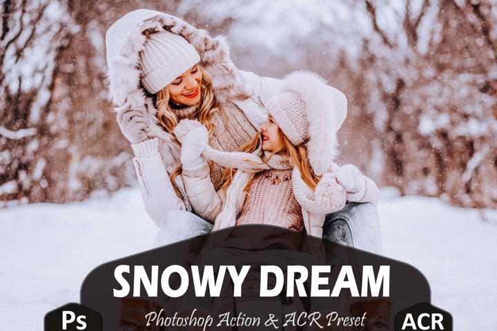 10 Snowy Dream Photoshop Actions And ACR Presets, Ps Winter