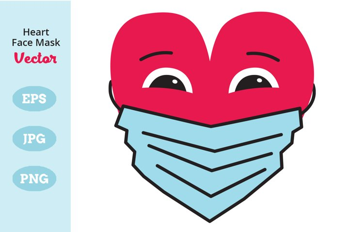 Heart Face Mask, Protective Face Mask, Heart Wearing Mask