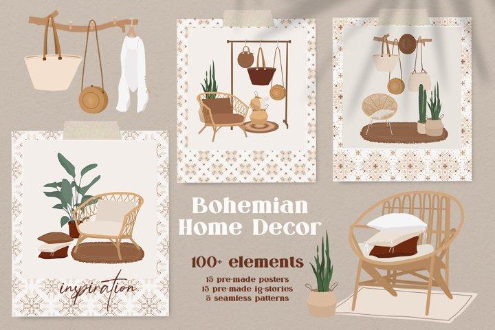 Bohemian Home Decor collection
