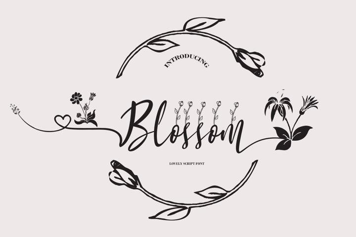 Blossom Script