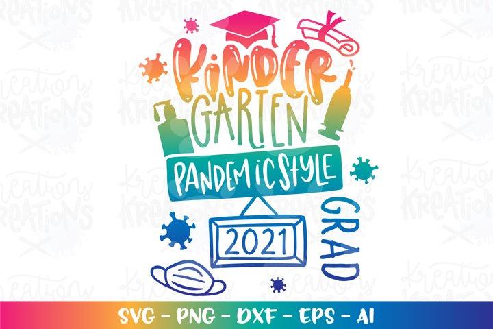 Graduation svg Kindergarten Pandemic graduate 2021