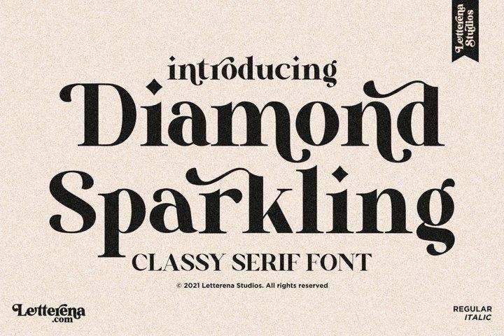 Diamond Sparkling - Classy Serif Font