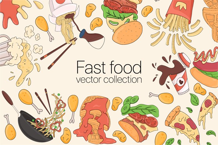 Fast food vector collection