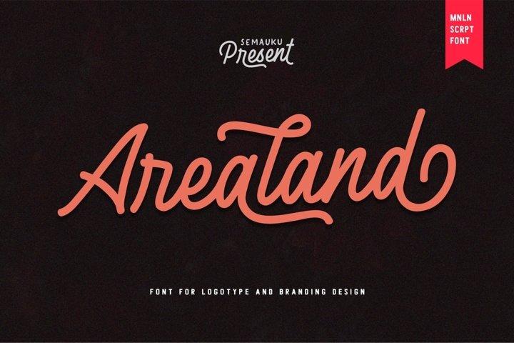 Arealand - Monoline Script