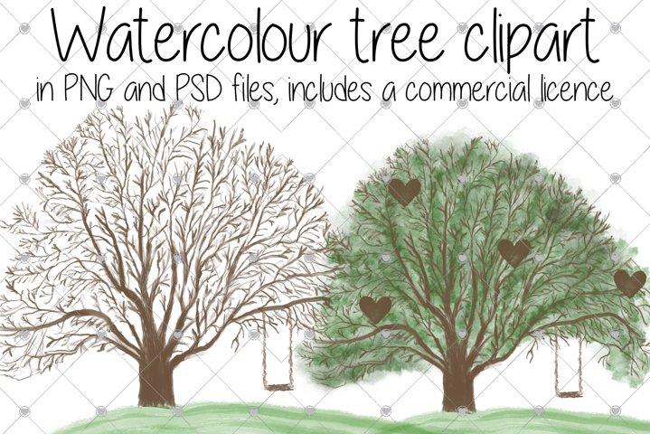Family Tree, Tree, Trees, Watercolour,