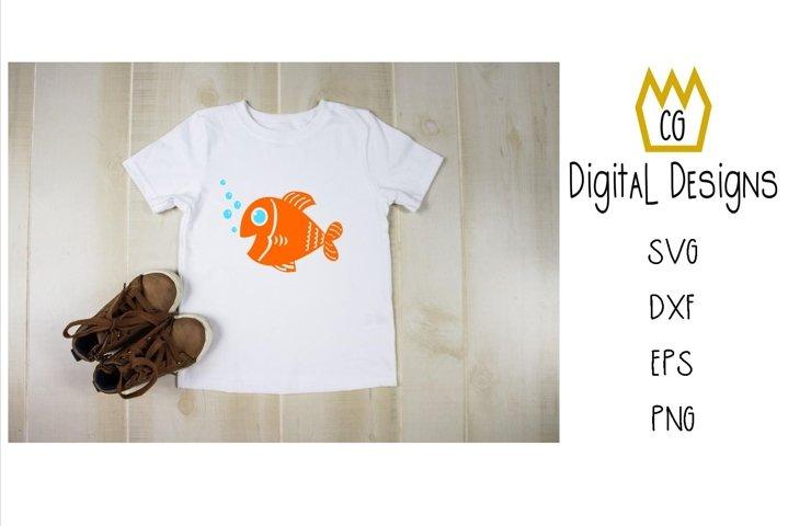Goldfish. SVG,DXF,EPS,PNG