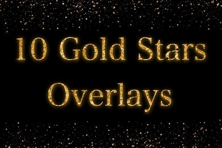Gold Stars Overlays
