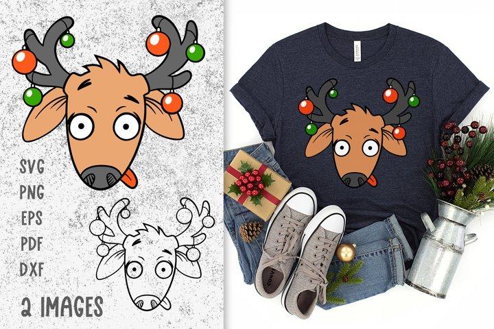 Reindeer svg Deer head svg Christmas svg Deer svg cut files